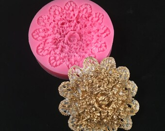Victorian Lace Flower Silicone Mold