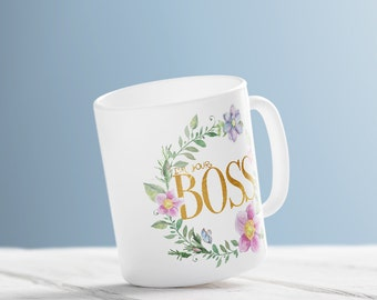 Boss Lady Mug Coffee Mug Boss Lady Gift Mug For Boss Girl Boss Mug Inspirational Coffee Mug, Coffee Cup Coffee Mug Gift