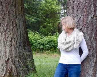 Knit Triangle Scarf ~ Wheat ~ Triangle Scarf ~ The Willow