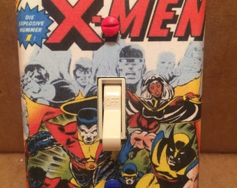 Giant-Size X-Men Light Switch Cover (Handmade, Marvel Comics, Wolverine)