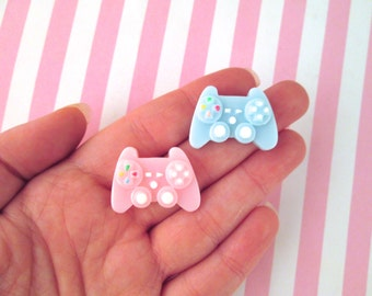 4 Video Game Controller Cabochons, #901