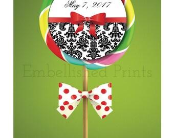 Lollipop Thank you sticker