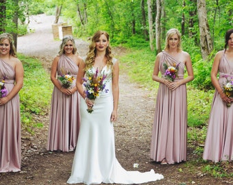 Convertible / Infinity Dress - Bridesmaid, Maternity, Custom Color & Size