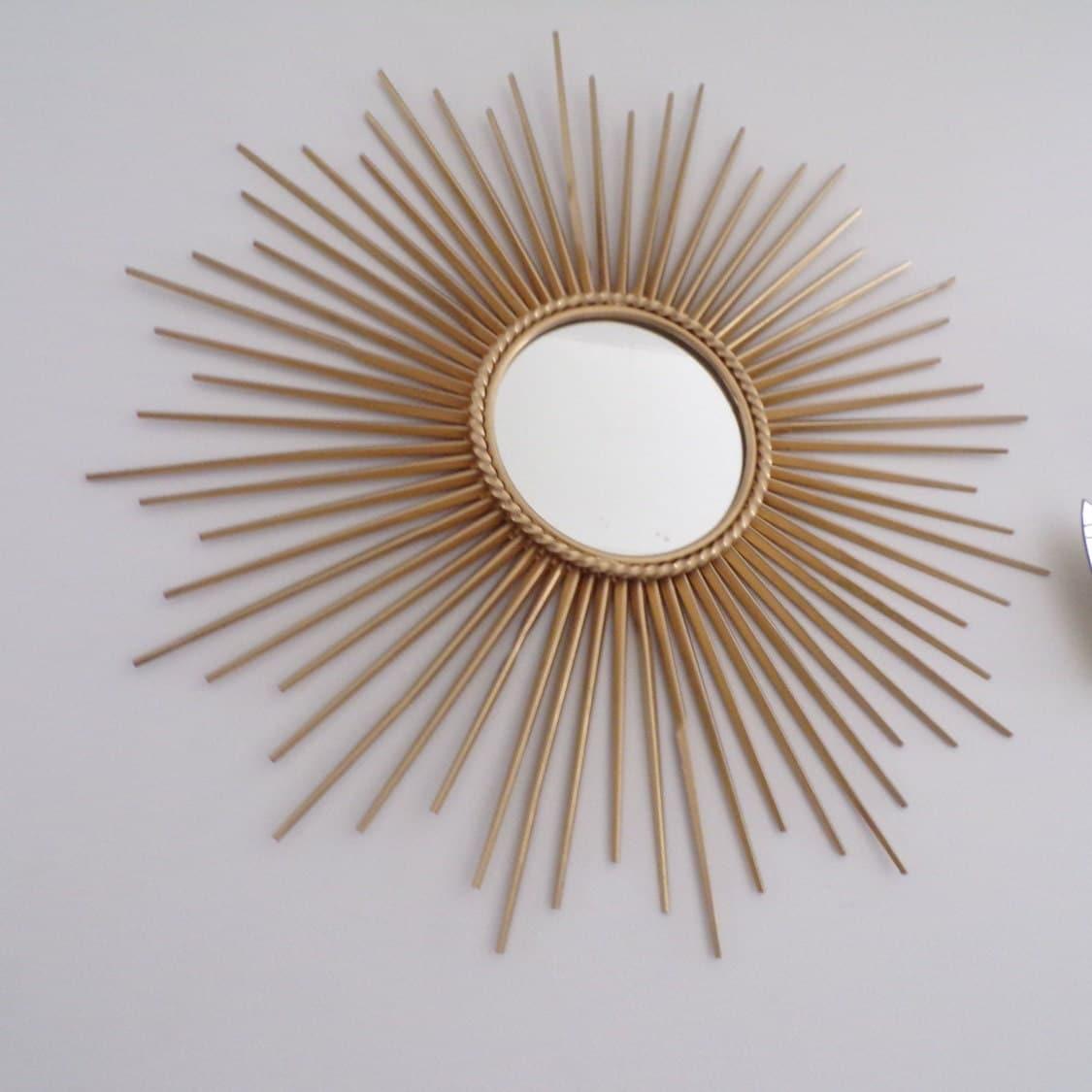 Grand miroir soleil vintage fran ais 1950 chaty vallauris for Grand miroir retro