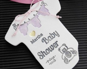 Customized Baby Shower Ceramic Favor,Personalized Baptism Gift,Hand-Crafted Original Present  -0907210916-