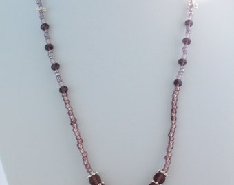Amethyst Butterfly Pendant Charm Necklace