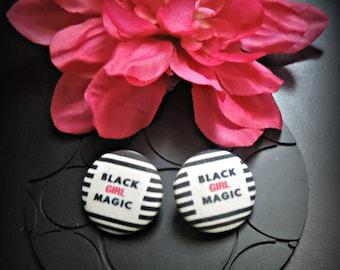 Black Girl Magic. Black Girl Magic Earrings. Black Girl Earrings. Black Girls Rock. Black Lives Matter. Buy Black. African American Jewelry.