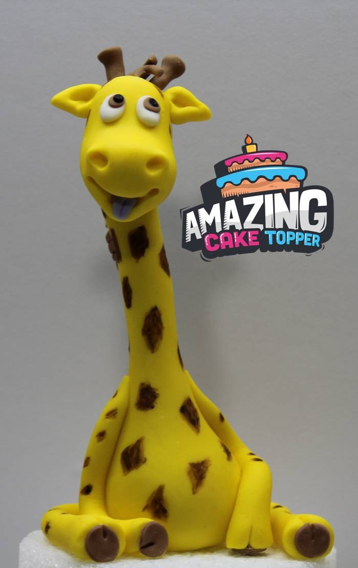 Giraffe Fondant Cake Topper. Ready to ship in 3-5 business
