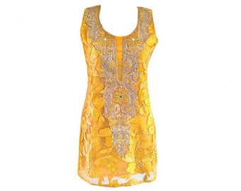 Elegant Embellished Indian Kurti Top, Sleeveless Tunic, Cocktail Party Tunic Top, Ethnic Indian Tops, Summer Festival, Women's Tops