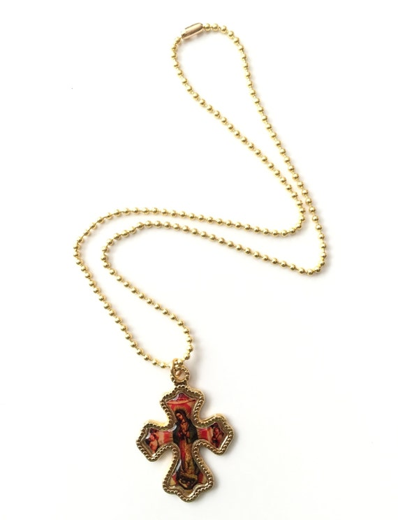 Virgin De Guadalupe Gold Necklace 64