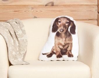 Dachshund Dog Pillow, dachshund gifts, Wiener Dog, Pet Lover Gift, dog shaped pillow