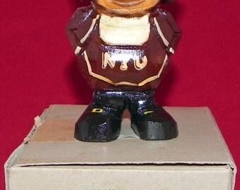 Circa 1950's Anri New York University NYU  Mascot Hand Carved Statue with its original box - Mint Condition