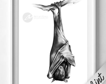 Fruit Bat limited edition GICLÉE PRINT - Art by Kerli
