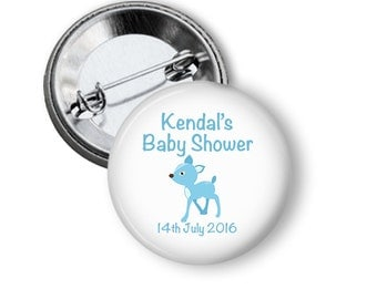 Baby Shower Badge  - Blue Fawn  5.7cm (2.25 inches)