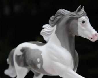 Light Dapple Gray Tobiano Custom Breyer Miniature Horse