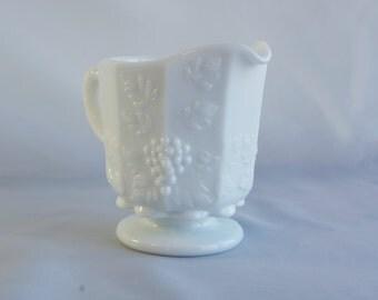Westmoreland Milk Glass - Vintage Milk Glass Creamer - Westmoreland Milk Glass Creamer - Grapevine Wreath Westmoreland Milk Glass Creamer
