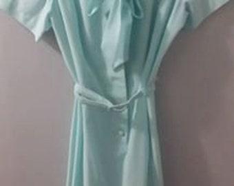 60s Robin egg blue secretary dress