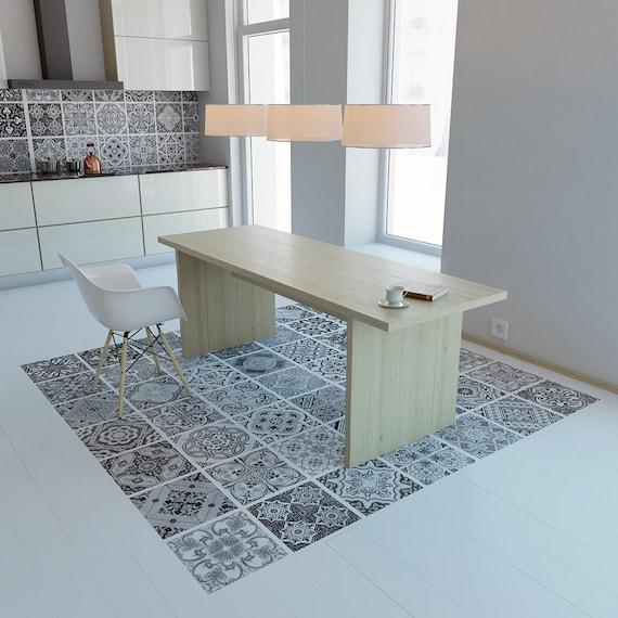 carreaux portugais vinyle de plancher vinyle carrelage. Black Bedroom Furniture Sets. Home Design Ideas