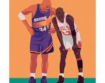 Charles Barkley & Michael Jordan