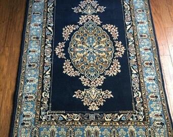 Persian Kashan Rug Kork Wool 3.5'x5' Exquisite