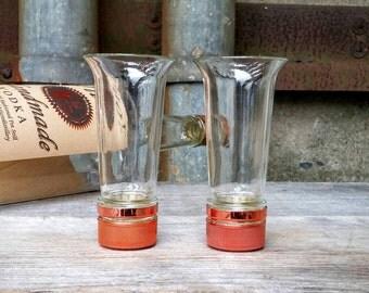 Tito's Vodka Shot Glasses, Created From Recycled Liquor Bottle Necks