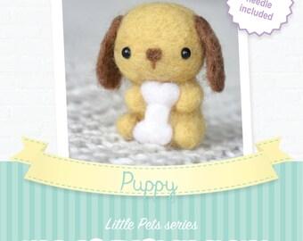 Puppy - DIY wool felting kit