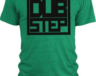 Big Texas Dub Step Block (Black)  Vintage Tri-Blend T-Shirt