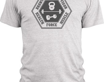 Big Texas Power and Force (Grey)  Vintage Tri-Blend T-Shirt
