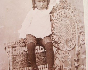 Vintage Cabinet Card - Young Child