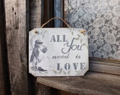 All you need is love sign Wooden wall decor Wood signs Wedding reception decor Rustic sign Wood love sign Wood quote sign Home decor signs