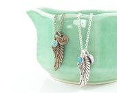 Angel Necklace, Angel Wing Necklace, Guardian Angel Necklace, Memorial Jewelry, Bereavement Jewelry, Sympathy Gift, Infant Loss Gifts, Grief
