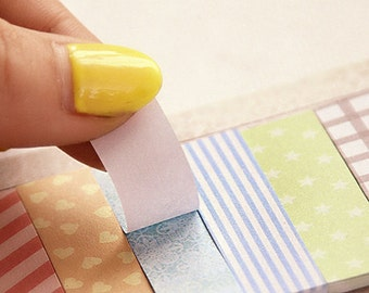 Sticky Notes - Pastel Sticky Notes, 2 Rolls of Skinny Tape - 1 Sticky Note Set - Cute Sticky Notes - Memo Pads - Planner Supplies - STN6