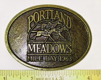 Mens Portland Meadows 1983 Belt Buckle