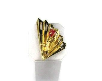 Vintage Napier Rose Pin