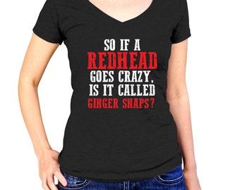Funny Hair Dresser Shirt - Redhead Gift - Red Hair Stylist - Ginger Cosmetology Tshirt - Beautician T-Shirt - Hair Salon Teel - Hairstylist