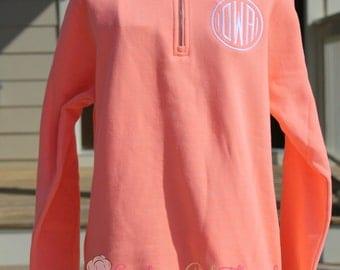 Charles River Pullover Sweatshirt, Monogram Pullover Sweatshirt, Monogrammed Sweatshirt,Quarter Zip Pullover Sweatshirt, Monogram Sweat