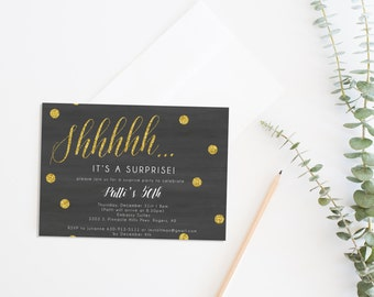 surprise invitation | etsy, Party invitations