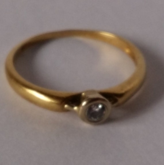 vintage 14k gold soltitaire engagement ring germany