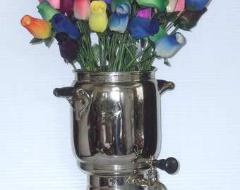 Antique Coffee Percolator Vintage Landers Frary & Clark 1912 Universal No E9136 Coffee Maker Pot Glass Top Spigot Spout Fancy VASE (AS IS)