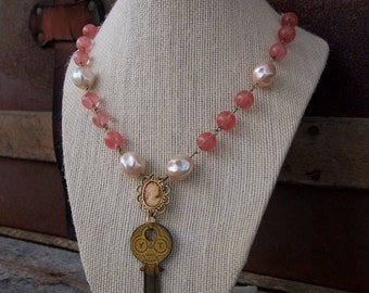 Cameo Key Necklace