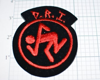 D.R.I. Dirty Rotten Imbeciles American Crossover Thrash Band Formed 1982 Vintage Patch - Free Shipping e8