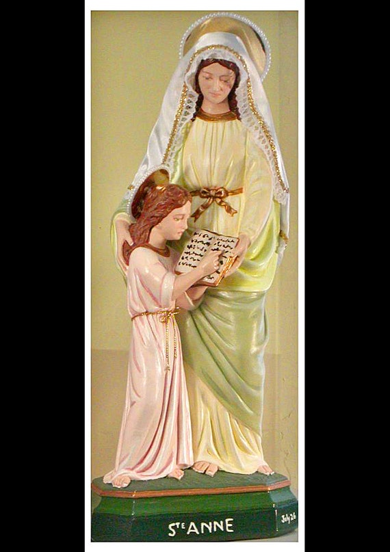 "St. Anne & the Child Mary 18"" Catholic Christian Religious Statue"