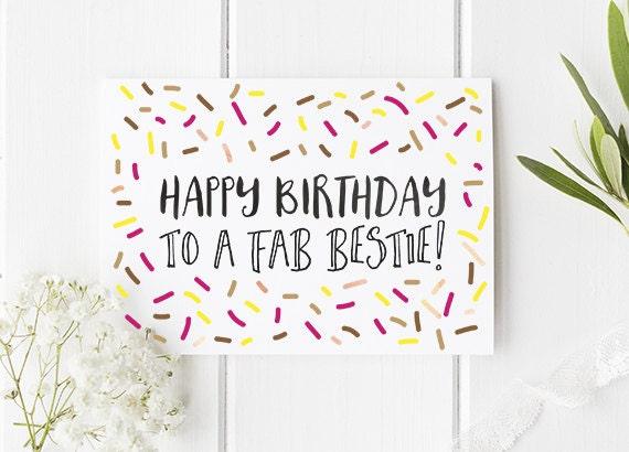 bff birthday card  etsy, Birthday card