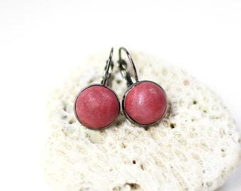 Small red earrings Cute dangles Urban jewelry Red dangle earrings Red jewelry small Modern jewelry Tiny drop earrings Small earrings Casual