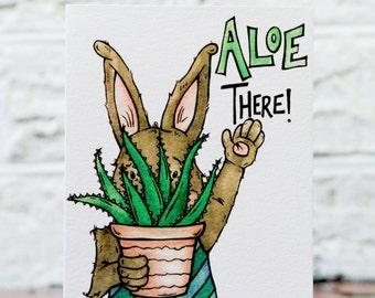 Succulent Fun Card, Aloe Illustration, Aloe Vera Art, Plant Lover Funny, Plant Pun Card, Cute Love Birthday, Funny Just Because,