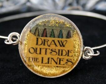 Draw Outside The Lines Resin Bracelet