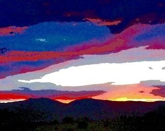 Ribbons of Color Boulder Sky