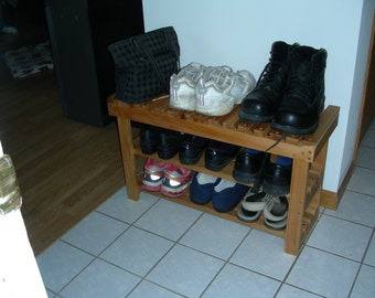 Shoe Organizer Shoe rack and Shoe bench.