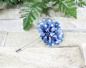 Blue lapel flower. Lapel flower. Lapel pin. Flower lapel. Man lapel pin. Brooch. Flower lapel pin. Mens flower lapel. Lapel pins men.