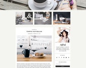 "Blogger Responsive Template - Blog Design - Customizable - Clean & Minimal - ""Ashleigh"" - Slider, Drop down, Instant Digital Download"